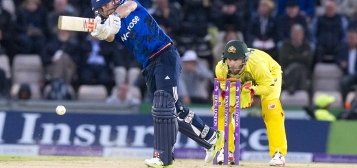 3 September 2015_cricket_Australian Ashes tour of England 2015_2015 ODI Series_1st ODI, England v Australia, The Ageas Rose Bowl, Southampton.  James Taylor drives a ball from maxwell at the Rose Bowl  © winston bynorth